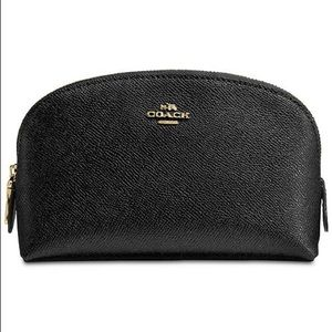 Coach 100% leather cosmetic bag/clutch.